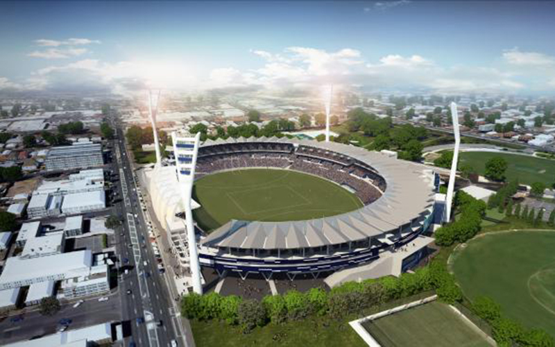 gmhba stadium commercial building suppliers geelong